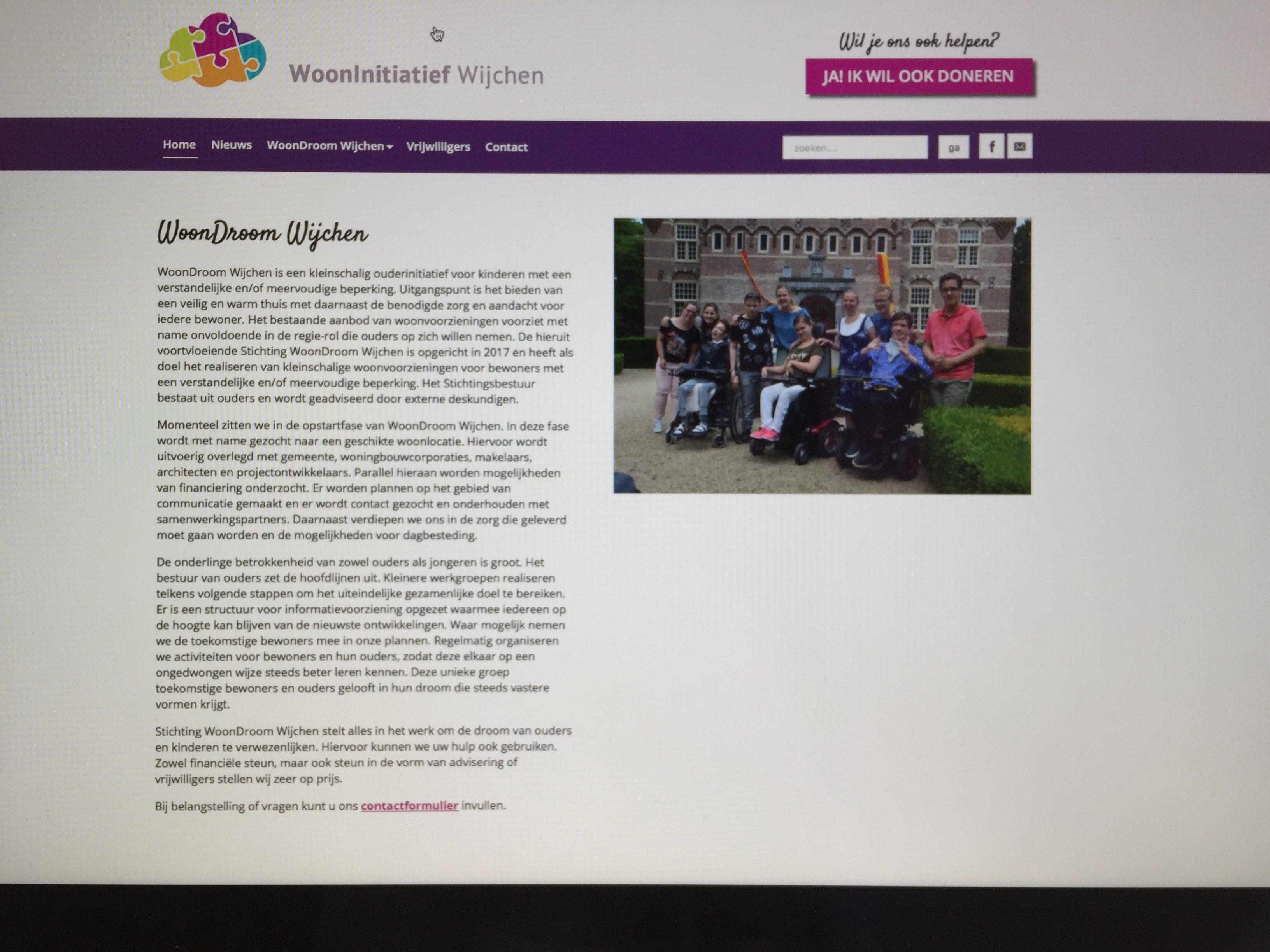 Lancering website WoonDroom Wijchen